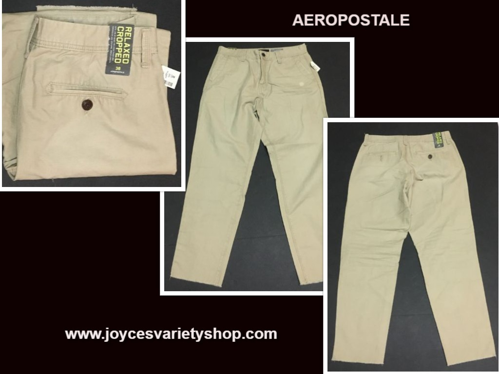 Aeropostale khaki pants web collage
