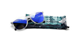 Oakley FROGSKINS 30yr Heritage Collection Matte Clear w/Violet Iridium 2... - $175.20
