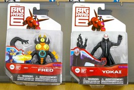 Disney Big Hero 6, Set of 2 action figures, FRED stealth & YOKI - FREE S... - $42.99