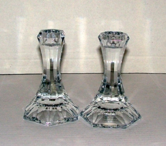 Towle Candlesticks, Austrian Lead Crystal, Faceted - $11.49