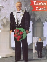 Timeless Tuxedo fits Barbie's Ken Doll NEW Plastic Canvas Pattern Leafle... - $3.57