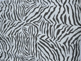 Pottery Barn Zebra King Duvet Cover Brown Cream Exotic Jungle African Print - $90.00