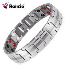 Pulsera de presión arterial,Titanium Bio-Energy Bracelet for Men Blood P... - $26.72