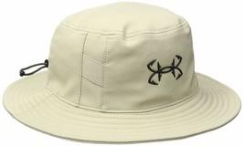 NEW! Under Armour Men's Fish Hook Bucket Hat-Desert Sand/Stealth Grey - $75.13