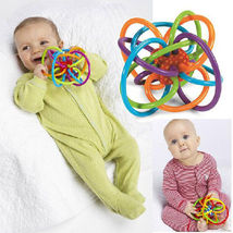 Baby Rattle Teether Toy Set Soft Bite Toddler Infant Ball Toys Months Se... - $23.46