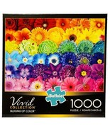New Buffalo Games Vivid Collection Blooms of Color Flowers 1000 Pc Jigsa... - $39.55