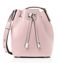 Michael Kors Miranda Medium Bucket Bag Leather Crossbody ~Cameo Pink~ NW... - $420.75