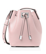 Michael Kors Miranda Medium Bucket Bag Leather Crossbody ~Cameo Pink~ NW... - $456.85 CAD