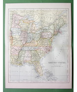 1882 Antique Map COLOR - UNITED STATES Eastern Part - $4.72