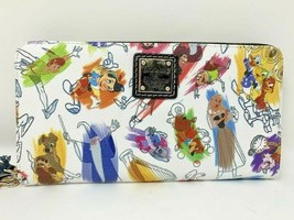 Disney Dooney & and Bourke Ink and Paint Zip Wallet Briar Rose Pinocchio... - $217.79
