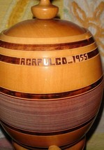 VTG 1955 MID CENTURY ATOMIC MODERNIST WINE BEER PEDASTLE STAND CASK KEG ... - $297.99