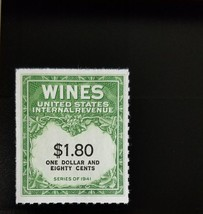 1942 $1.80 U.S. Internal Revenue Cordial & Wine, Green Scott RE151 Mint ... - $5.27