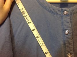 L.L. Bean Deep Periwinkle Blue Button Down Long Sleeve Sweater w Pockets Sz M image 5