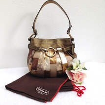 Coach Ltd Ed Mosaic Small Hobo, Gold Patchwork Evening Bag - Style 3572 ... - $64.34