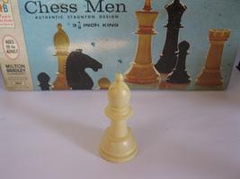 1969 Chess Men Board Game Piece: Authentic Stauton Design - White Bishop - $1.00