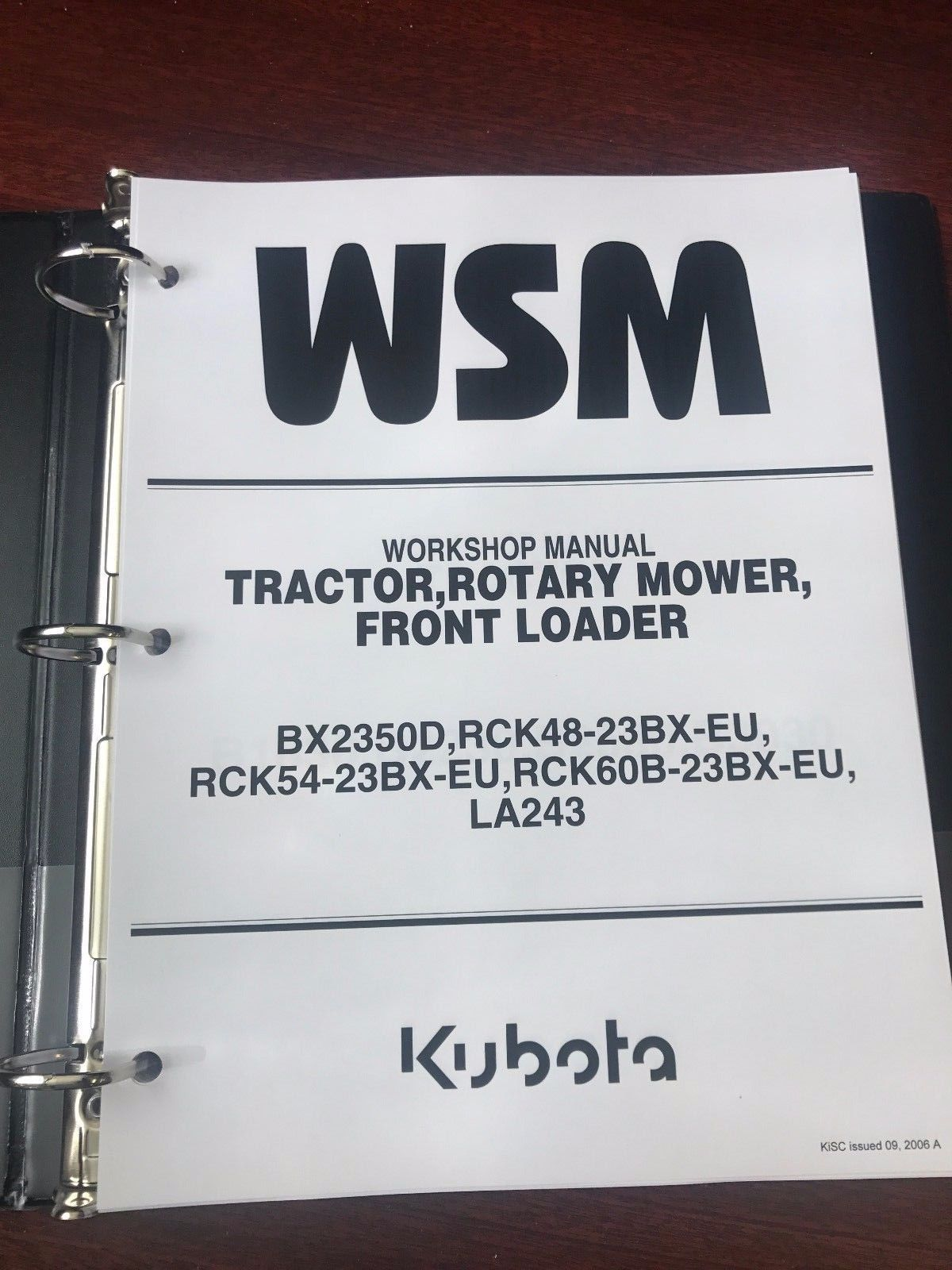 Kubota BX2350D Tractor Mower Loader Service Repair Workshop Manual - $83.00