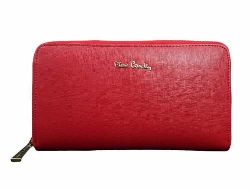 Vintage New in Box Dust Bag Pierre Cardin Red Leather Wallet Clutch Bag