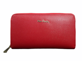 Vintage New in Box Dust Bag Pierre Cardin Red Leather Wallet Clutch Bag image 1