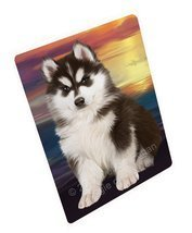 Siberian Husky Dog Art Portrait Print Woven Throw Sherpa Plush Fleece Bl... - ₹9,854.28 INR