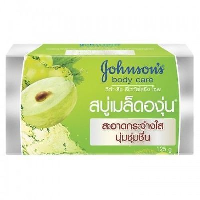3x125G. JOHNSONS BODY CARE GRAPESEED OIL VITA-RICH REVITALISING BAR SOAP