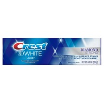 Crest 3D White Luxe Diamond Strong Whitening Toothpaste, Brilliant Mint,... - $17.76