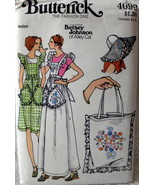 Butterick 4090 Vintage 1970's Jumper Hat Bag Sewing Pattern Embroidery T... - $21.00