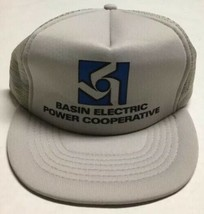 Vtg Basin Electric Power Cooperative Trucker Hat Bismarck North Dakota Cap ND - $29.69