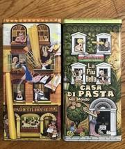 Vintage Pasta Storage Tins Collectible spaghetti house and casa di pasta... - $16.44