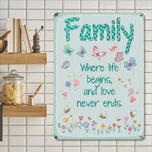 Family, Where Life Begins, House Shabby Chic Decor Fridge Magnet - $3.37