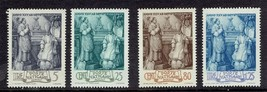 1943 Episcopate of Pius XII Set of 4 Vatican Stamps Catalog Number 80-83 MNH