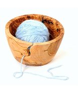 BeldiNest Sale! Knitting Bowl Hand-Carved from Olive Wood Yarn Bowl Gift Idea fo - £30.52 GBP