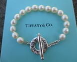 100% Genuine Tiffany & Co pearl bracelet 7.5inches - sterling silver