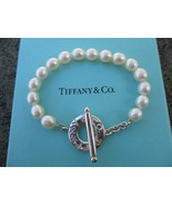100% Genuine Tiffany & Co pearl bracelet 7.5inches - sterling silver - $282.66