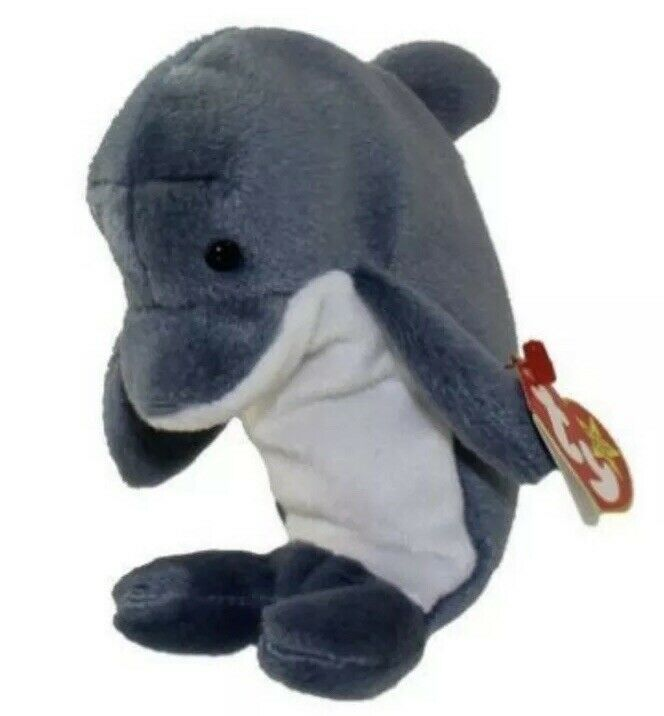 Ty Beanie Babies Waves the Dolphin New with Tags