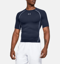 Under Armour Mens UA HeatGear Compression Shirt 1257468-410 Navy Multi S... - $20.22