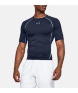 Under Armour Mens UA HeatGear Compression Shirt 1257468-410 Navy Multi S... - $20.22