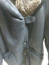 Walter Davoucci Women  Lambskin Leather Shearling Jacket Sz Medium Coat image 9