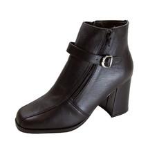 PEERAGE Zaya Women's Wide Width Double Zip Leather Dress Bootie - $44.95