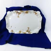 """Haviland Serving Platter JW Boteler and Son Scalloped Edge Florals 18"""" - $106.91"""
