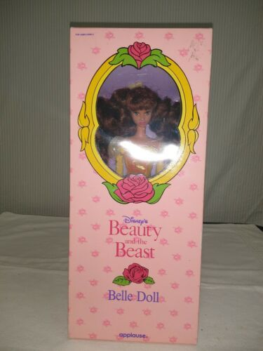 """Disney Beauty and the Beast Belle 11"""" Doll Yellow Gown Applause New Vintage 90s"""