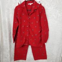 Victoria's Secret Women's Pajamas 2 Piece Button Down Red Sz Small - $24.30
