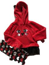 Penelope Mack Toddler Girl 3T Matching Cat & Heart Hoodie Jacket & Leggi... - $14.85