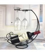Metal Wine Rack Hanging Glass Holder Bar Stand Bracket Display Bracket D... - $39.99