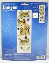 Janlynn The Pack Wolves Counted Cross Stitch Kit #013-0325 - Opened & Co... - $16.10
