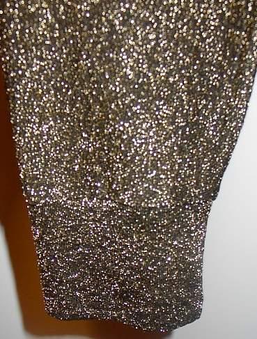 Shimmery Gold Black Rail Horse Show Hobby Halter Slinky M