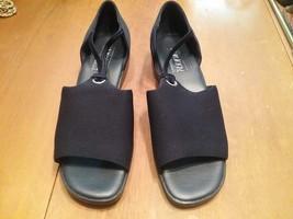 Aerology Aerosoles Navy Blue Open Toe Shoes Casual Womens 9 1/2 - $19.79