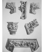 FRANCE Chateau Amboise Chapel Interior Details - SUPERB 1843 Antique Print - $18.00