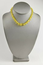"""ESTATE VINTAGE Jewelry 14"""" RARE BRIGHT YELLOW GRADUATED GLASS BEAD NECKLACE - $30.00"""