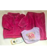 Girl's Size 6M 3-6 Months 4 Pc Pink Velour Tommy Hilfiger Hooded Jacket,... - $25.00