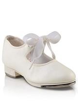 Capezio Kids Girl's Jr. Tyette N625C Toddler/Little Kid White Sneaker 12 Little  - $27.32